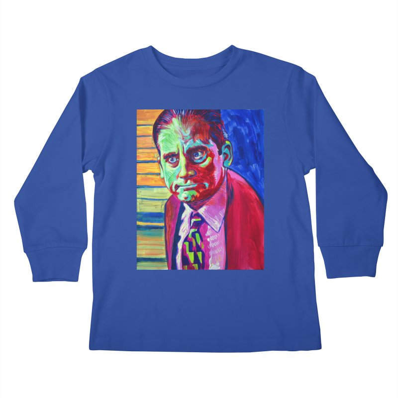 m. scott Kids Longsleeve T-Shirt by paintings by Seamus Wray