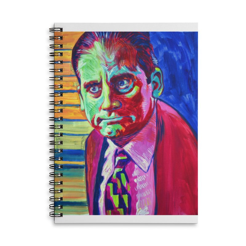 m. scott Accessories Lined Spiral Notebook by paintings by Seamus Wray
