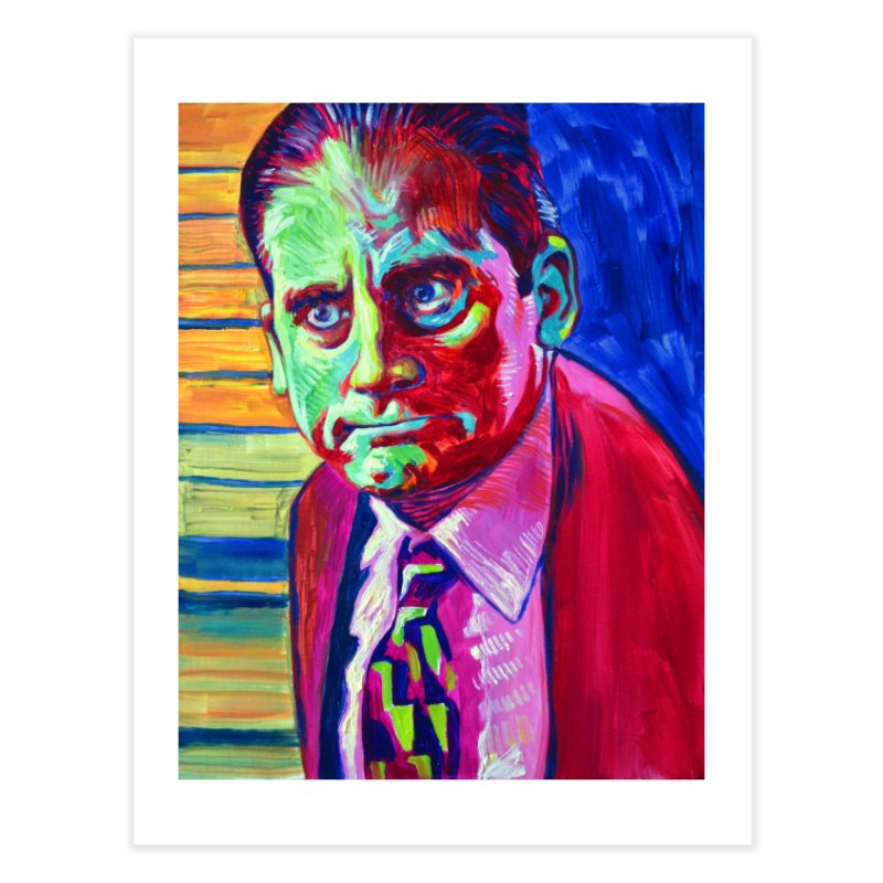 m. scott Home Fine Art Print by paintings by Seamus Wray