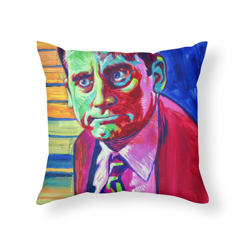 m. scott Home Throw Pillow by paintings by Seamus Wray