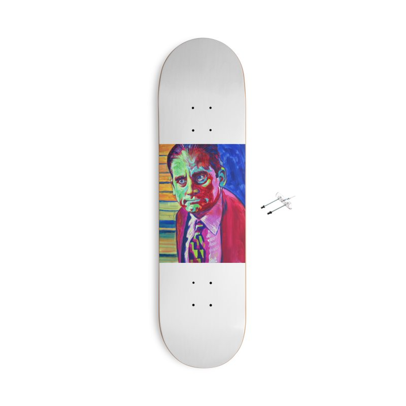 m. scott Accessories With Hanging Hardware Skateboard by paintings by Seamus Wray