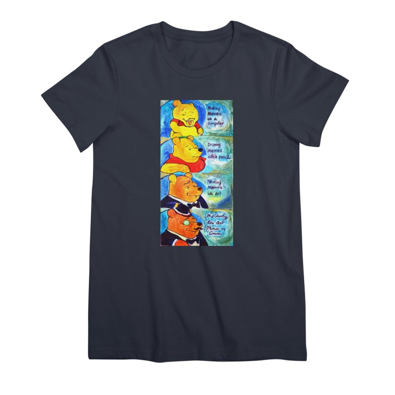 pooh Women's Premium T-Shirt by paintings by Seamus Wray