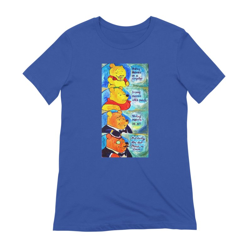 pooh Women's Extra Soft T-Shirt by paintings by Seamus Wray
