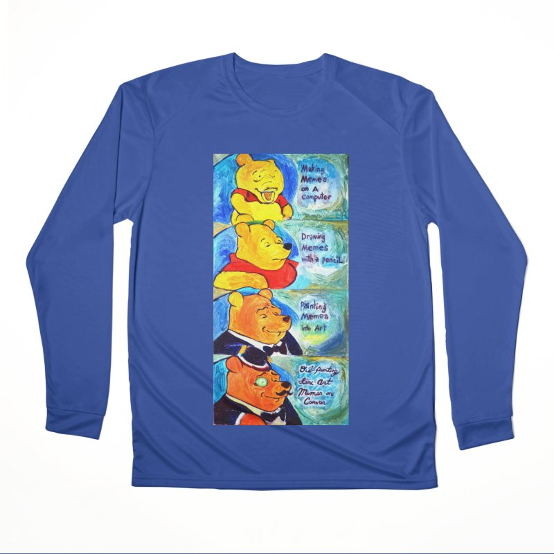 pooh Men's Performance Longsleeve T-Shirt by paintings by Seamus Wray