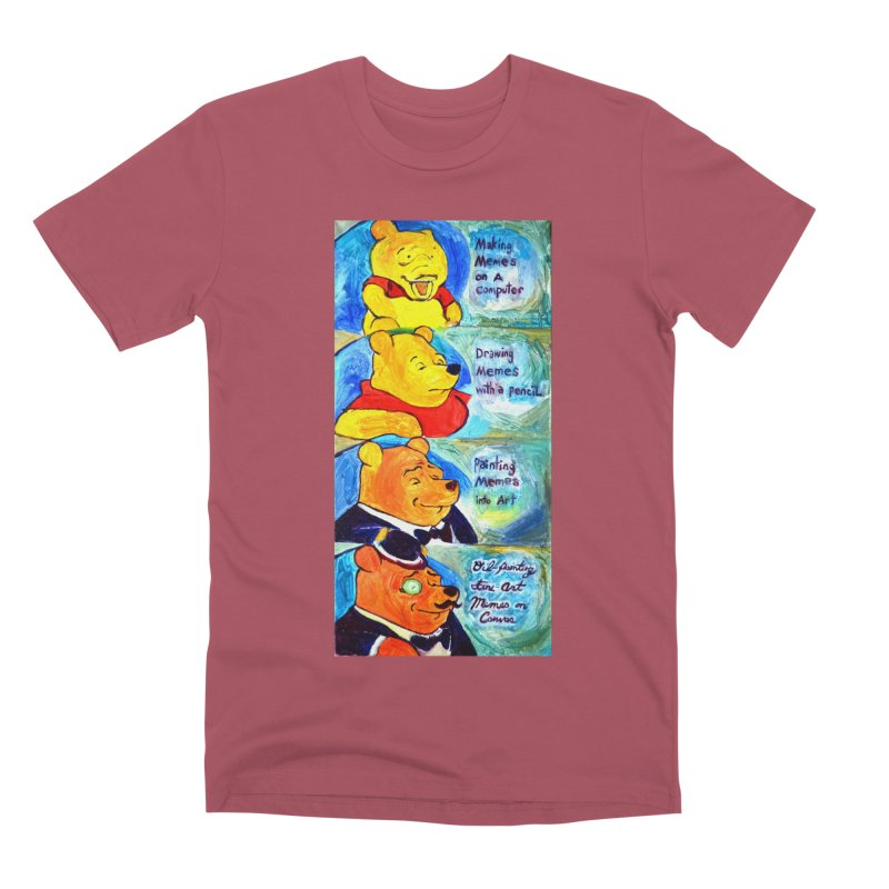 pooh Men's Premium T-Shirt by paintings by Seamus Wray