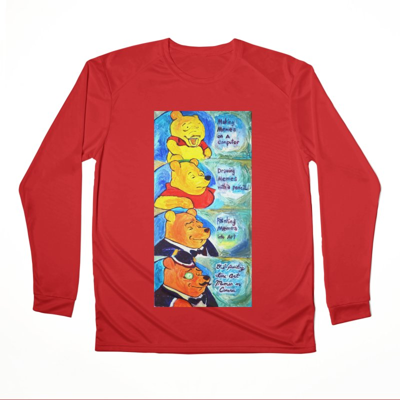 pooh Women's Performance Unisex Longsleeve T-Shirt by paintings by Seamus Wray