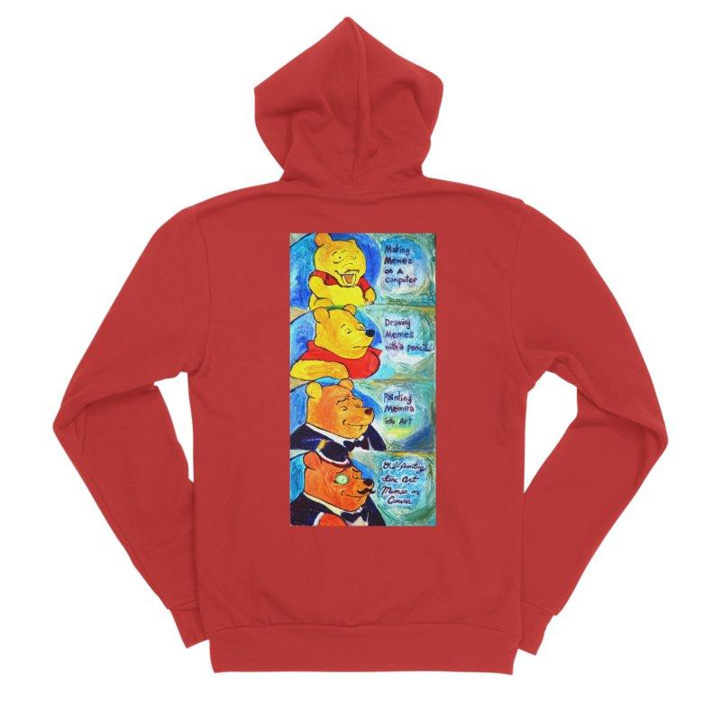 pooh Women's Sponge Fleece Zip-Up Hoody by paintings by Seamus Wray