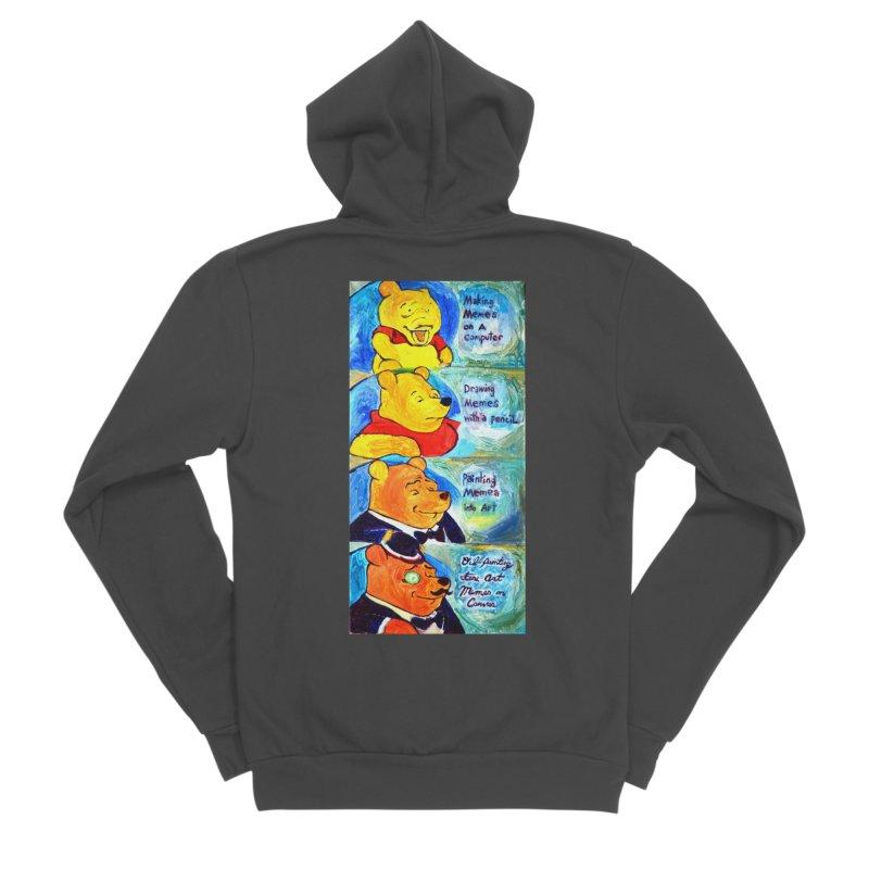 pooh Men's Sponge Fleece Zip-Up Hoody by paintings by Seamus Wray