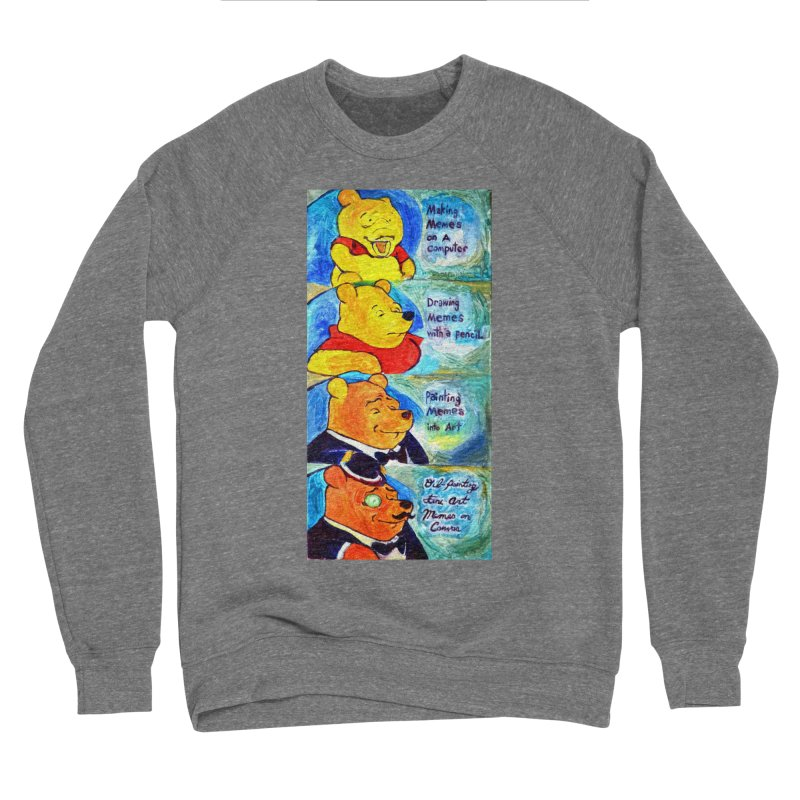 pooh Men's Sponge Fleece Sweatshirt by paintings by Seamus Wray