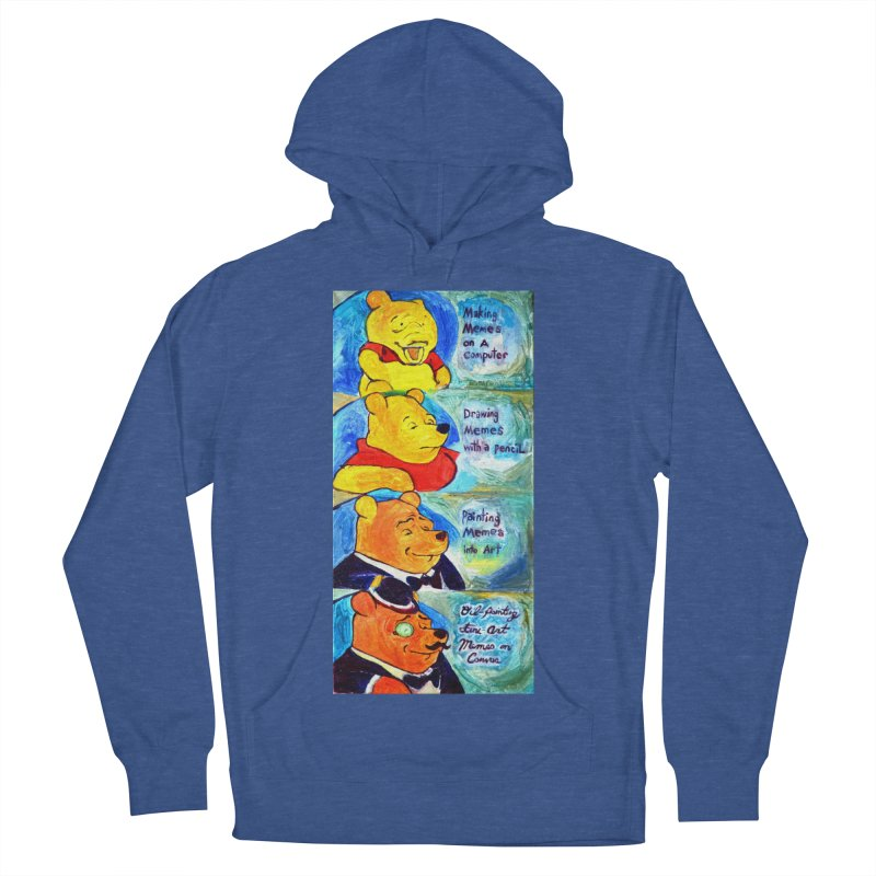pooh Women's French Terry Pullover Hoody by paintings by Seamus Wray