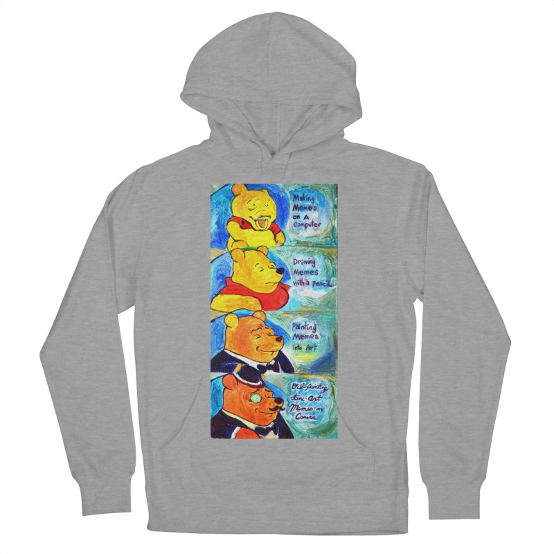 pooh Men's French Terry Pullover Hoody by paintings by Seamus Wray