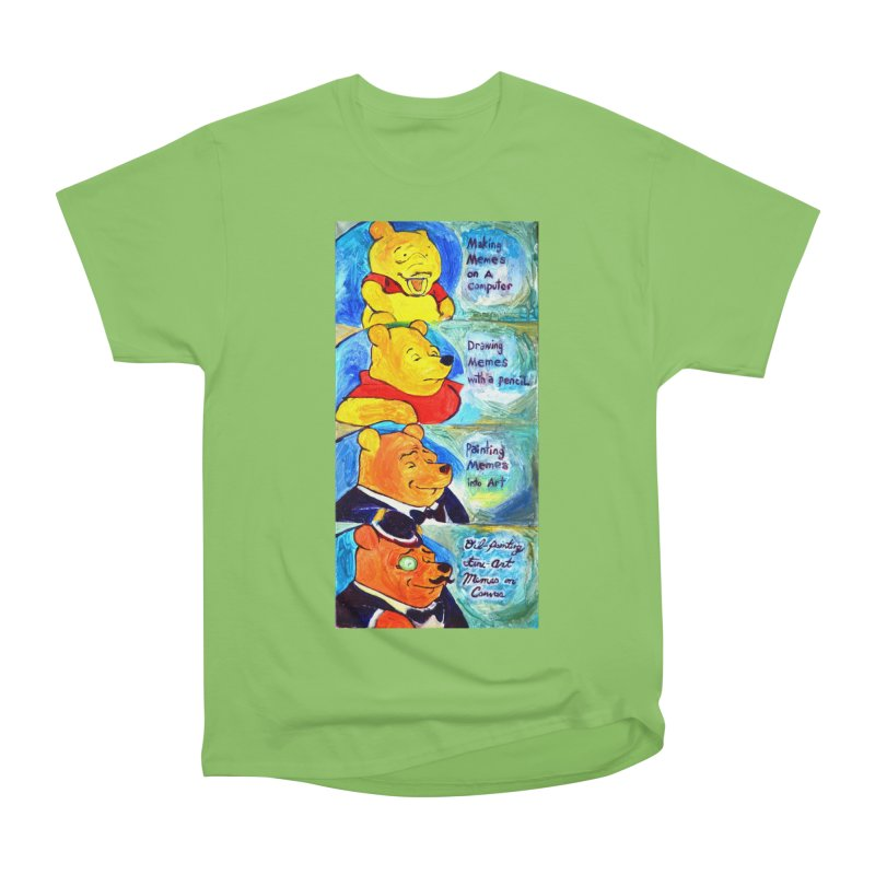 pooh Men's Heavyweight T-Shirt by paintings by Seamus Wray