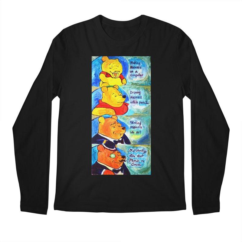 pooh Men's Regular Longsleeve T-Shirt by paintings by Seamus Wray