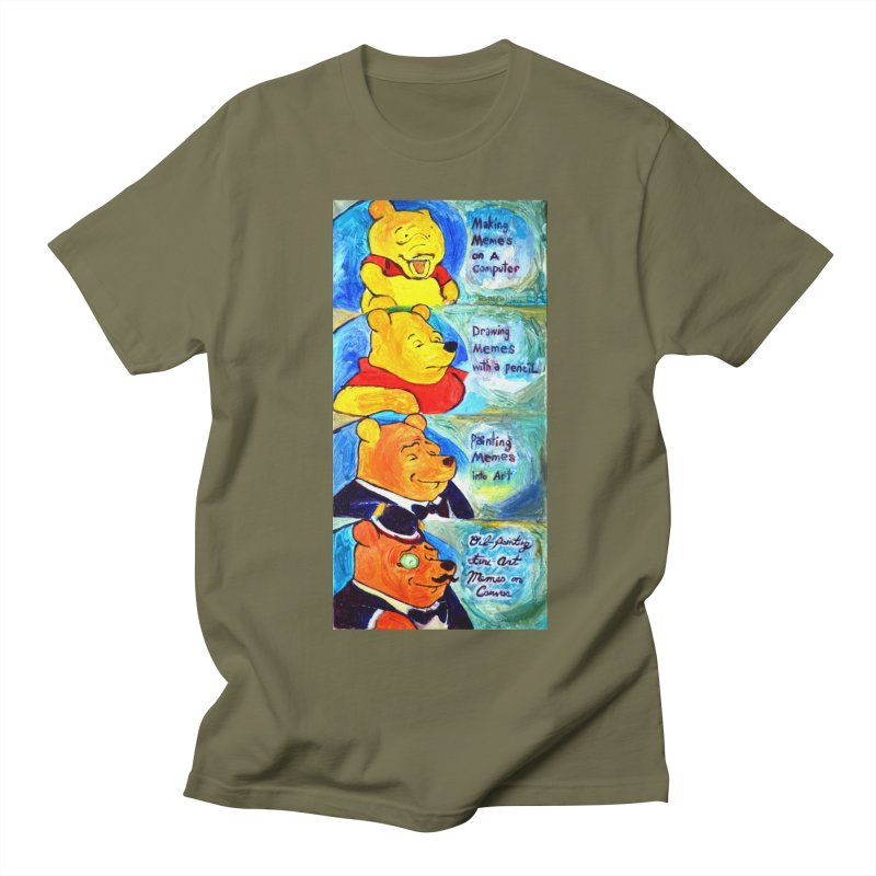 pooh Women's Regular Unisex T-Shirt by paintings by Seamus Wray
