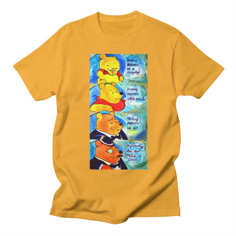 pooh Men's Regular T-Shirt by paintings by Seamus Wray
