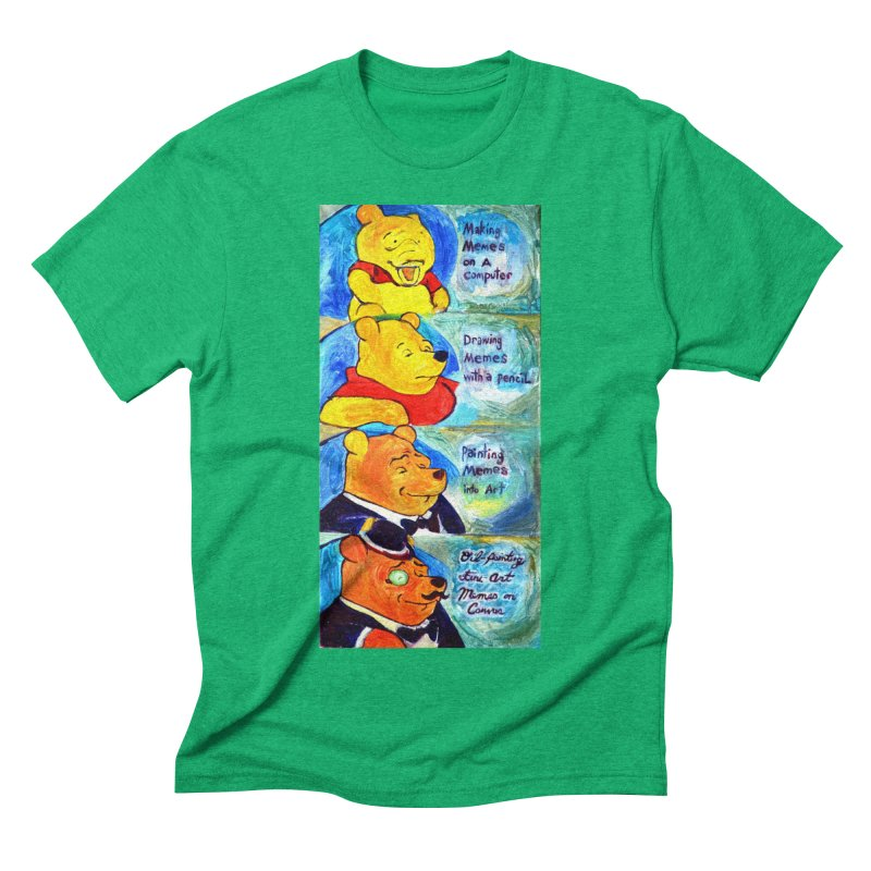 pooh Men's Triblend T-Shirt by paintings by Seamus Wray