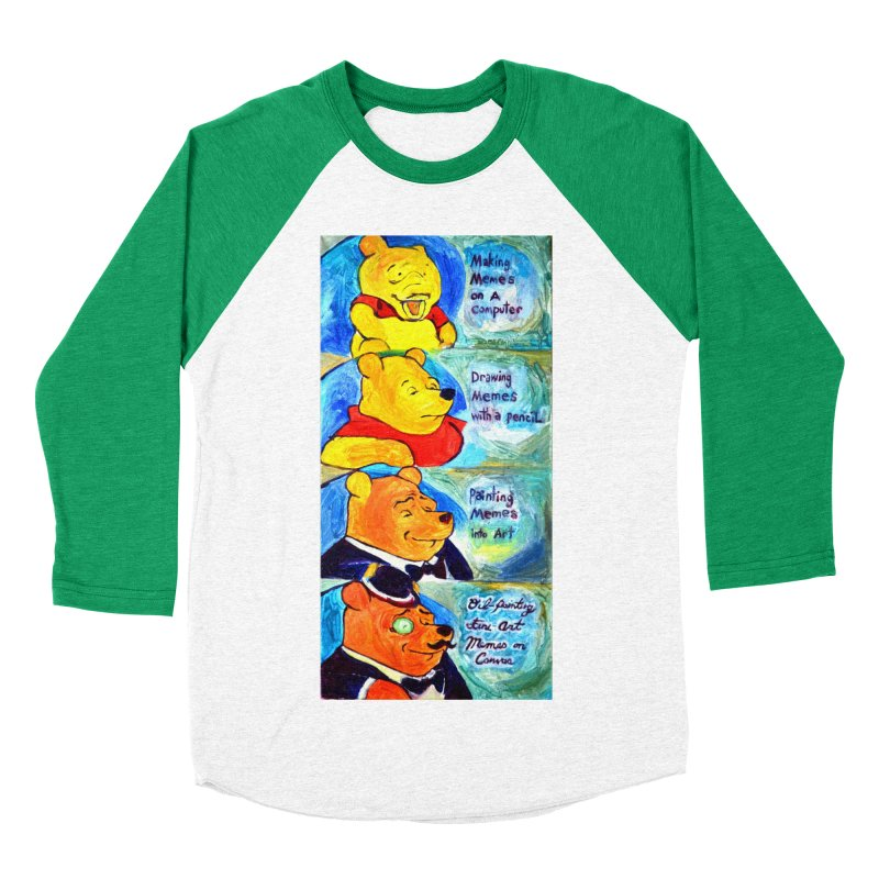 pooh Women's Baseball Triblend Longsleeve T-Shirt by paintings by Seamus Wray