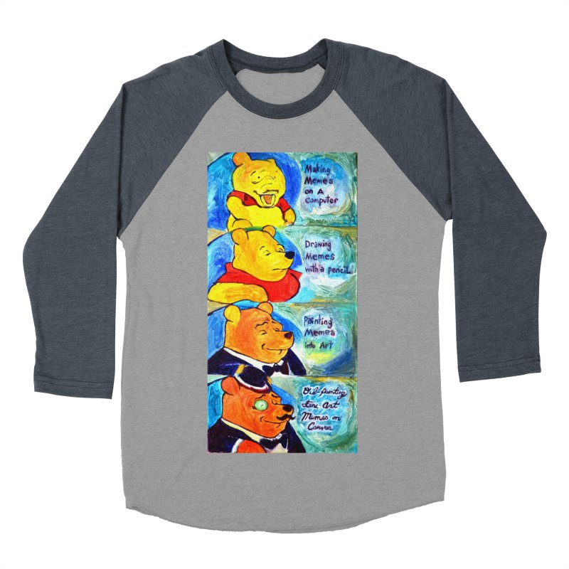 pooh Men's Baseball Triblend Longsleeve T-Shirt by paintings by Seamus Wray