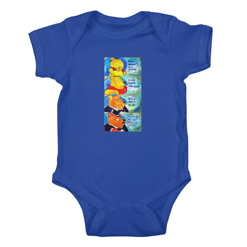 pooh Kids Baby Bodysuit by paintings by Seamus Wray
