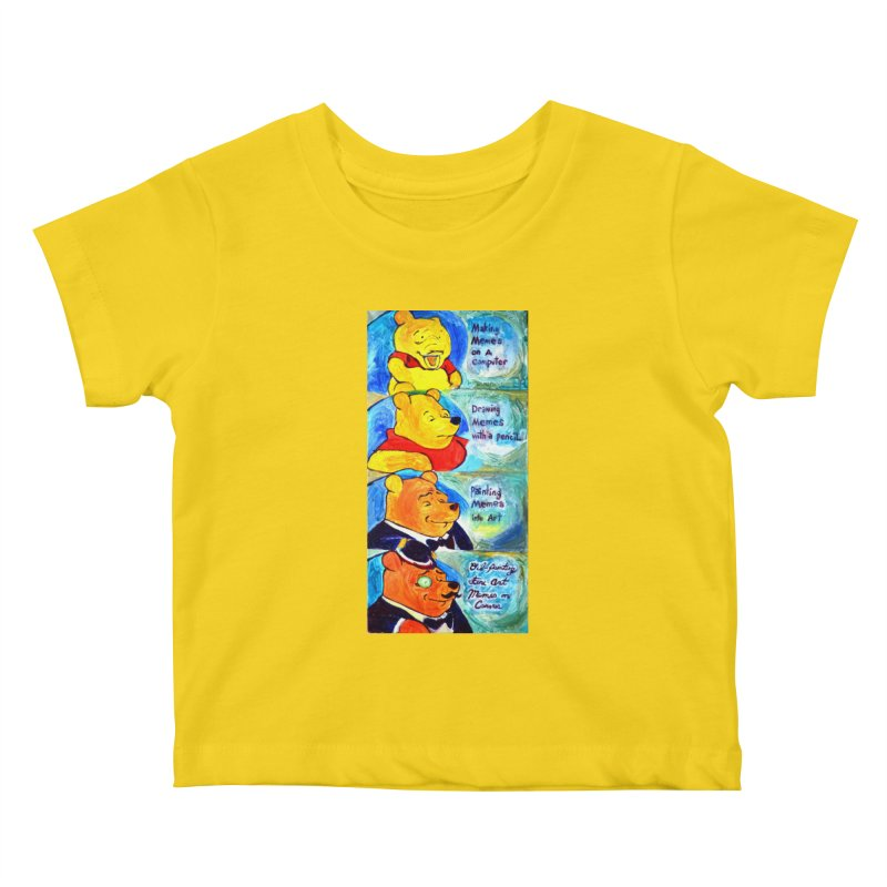 pooh Kids Baby T-Shirt by paintings by Seamus Wray