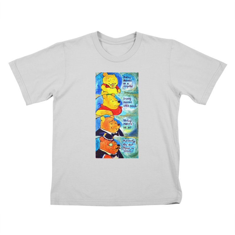 pooh Kids T-Shirt by paintings by Seamus Wray