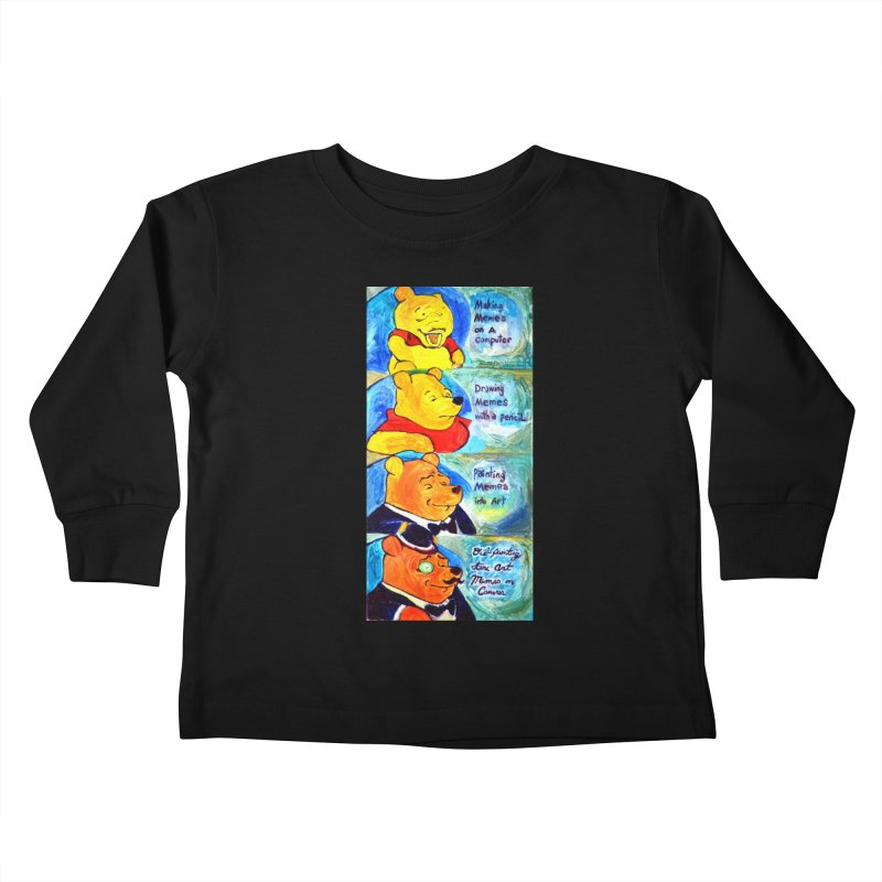 pooh Kids Toddler Longsleeve T-Shirt by paintings by Seamus Wray