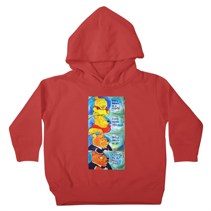 pooh Kids Toddler Pullover Hoody by paintings by Seamus Wray