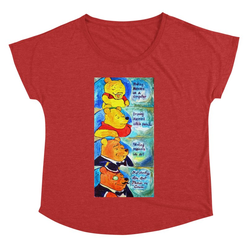 pooh Women's Dolman Scoop Neck by paintings by Seamus Wray