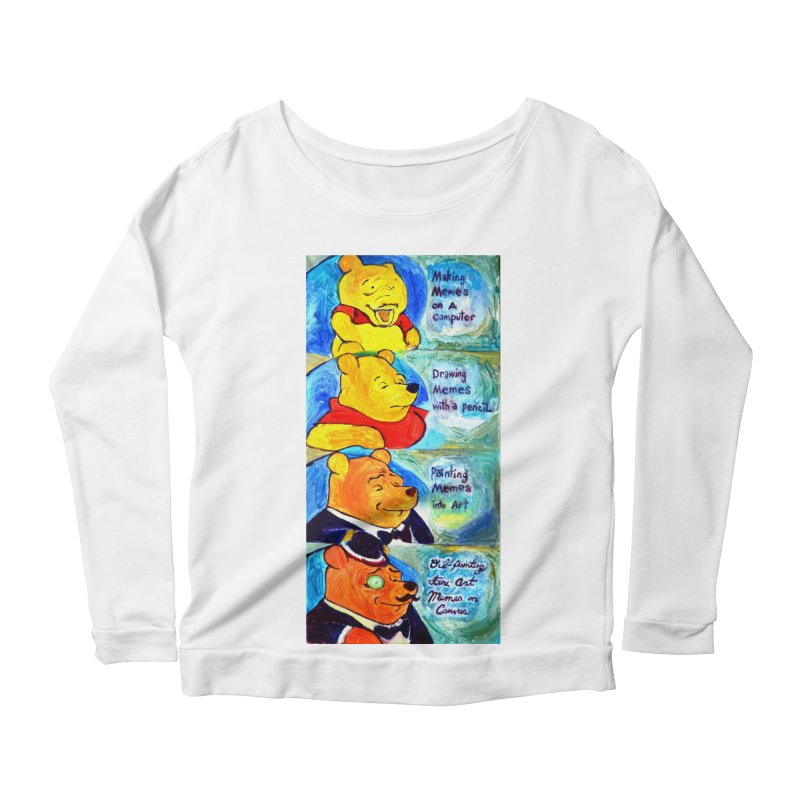 pooh Women's Scoop Neck Longsleeve T-Shirt by paintings by Seamus Wray