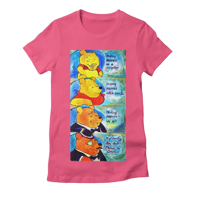 pooh Women's Fitted T-Shirt by paintings by Seamus Wray