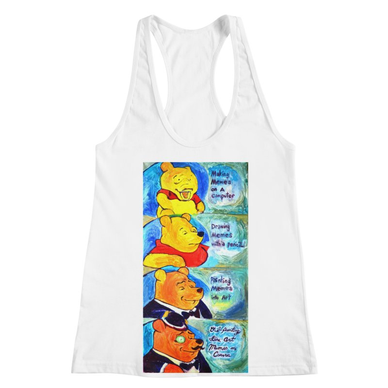 pooh Women's Racerback Tank by paintings by Seamus Wray