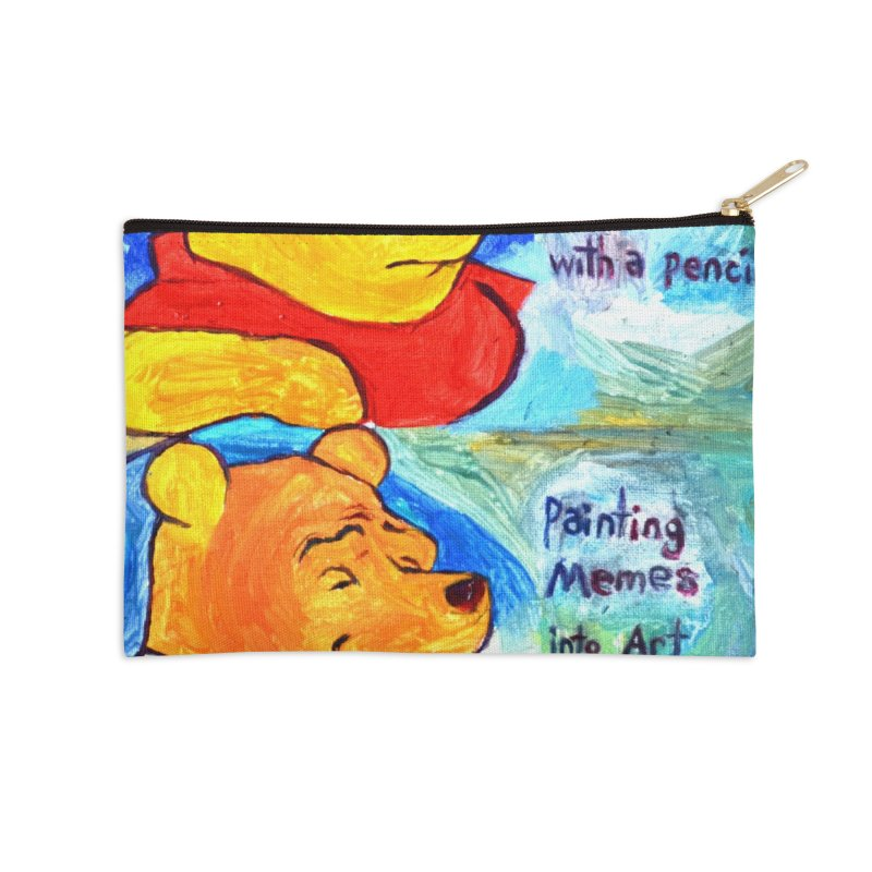 pooh Accessories Zip Pouch by paintings by Seamus Wray