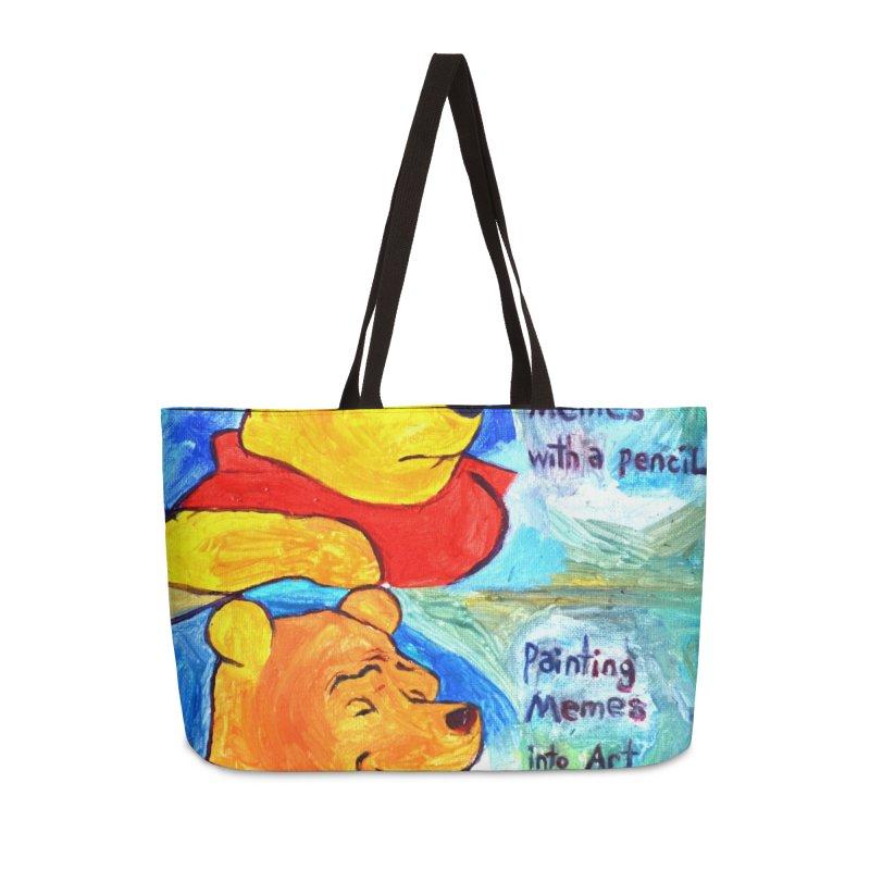 pooh Accessories Weekender Bag Bag by paintings by Seamus Wray