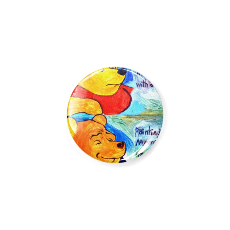 pooh Accessories Button by paintings by Seamus Wray