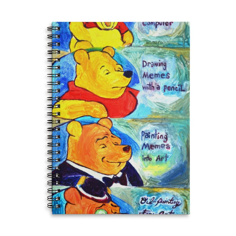 pooh Accessories Lined Spiral Notebook by paintings by Seamus Wray