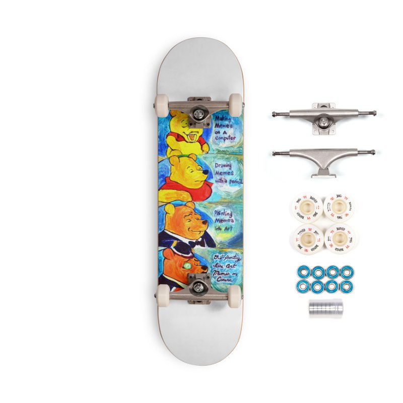 pooh Accessories Complete - Premium Skateboard by paintings by Seamus Wray