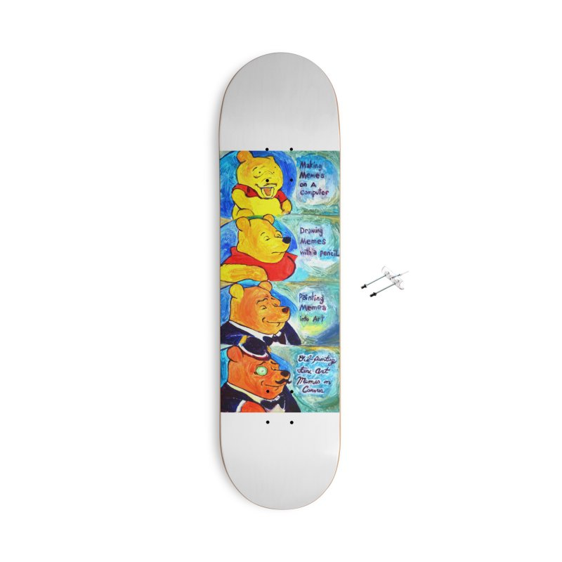 pooh Accessories With Hanging Hardware Skateboard by paintings by Seamus Wray