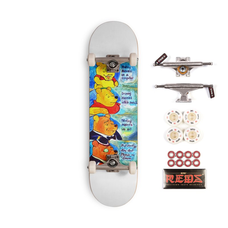 pooh Accessories Complete - Pro Skateboard by paintings by Seamus Wray