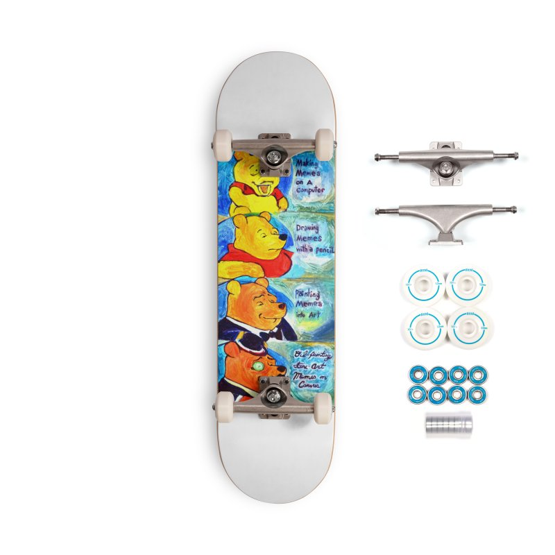 pooh Accessories Complete - Basic Skateboard by paintings by Seamus Wray