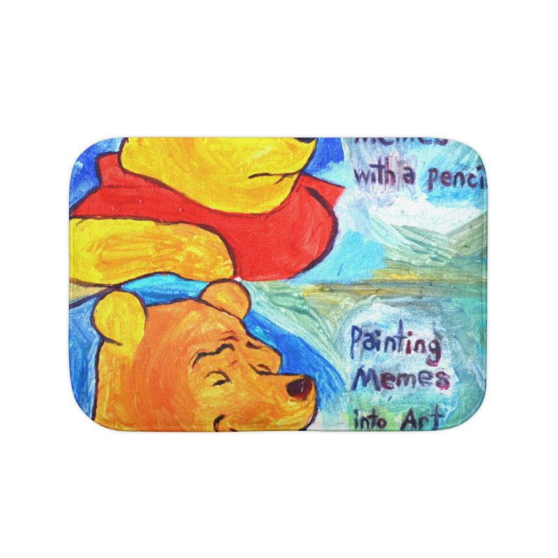 pooh Home Bath Mat by paintings by Seamus Wray