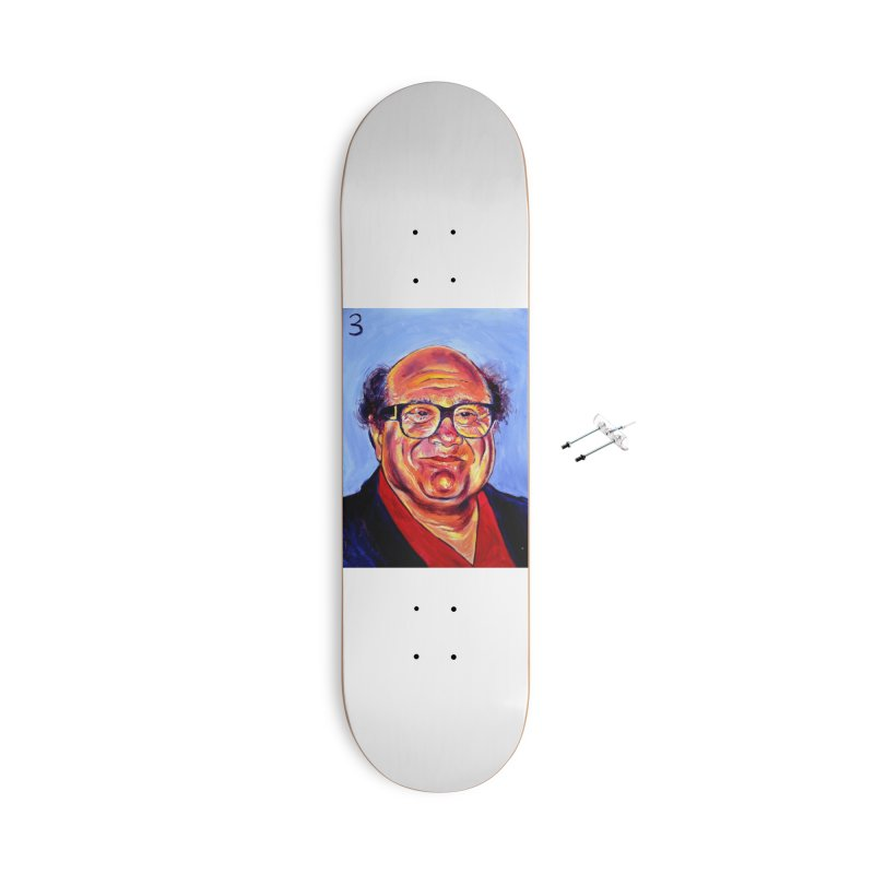 3 Accessories With Hanging Hardware Skateboard by paintings by Seamus Wray