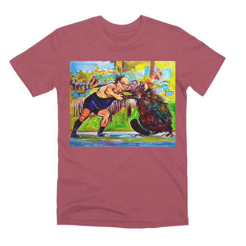 greco-roman Men's Premium T-Shirt by paintings by Seamus Wray