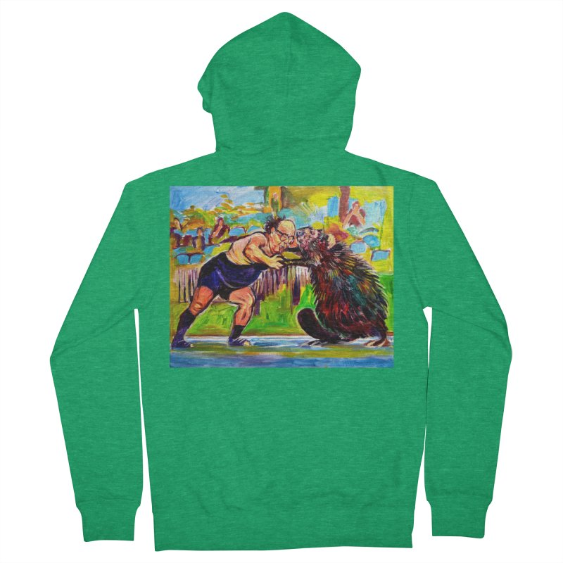 greco-roman Women's French Terry Zip-Up Hoody by paintings by Seamus Wray