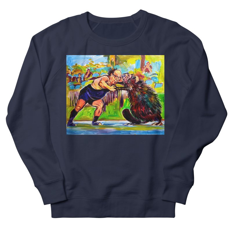 greco-roman Men's French Terry Sweatshirt by paintings by Seamus Wray