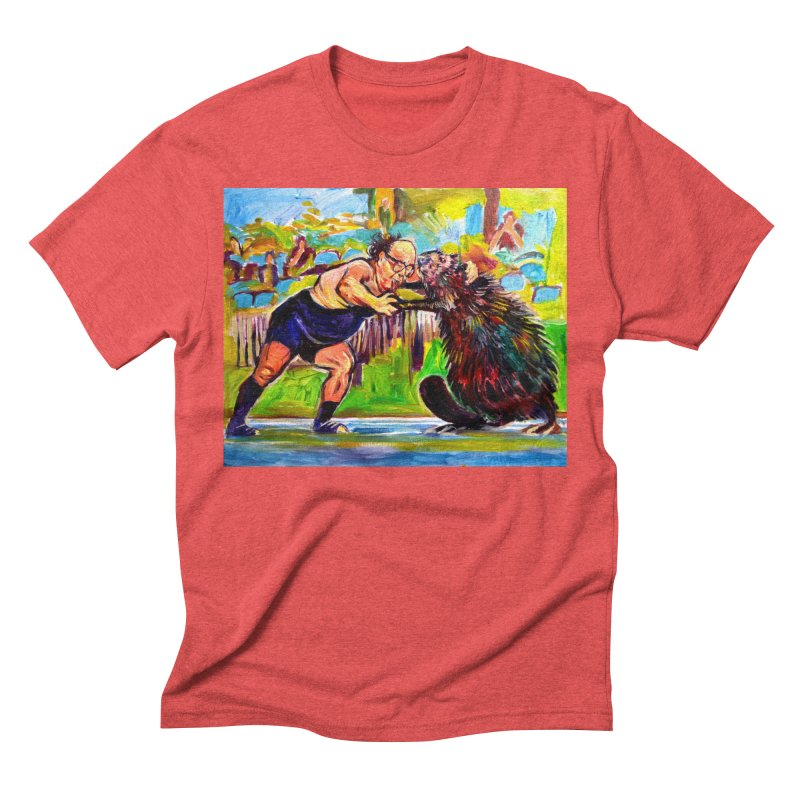 greco-roman Men's Triblend T-Shirt by paintings by Seamus Wray