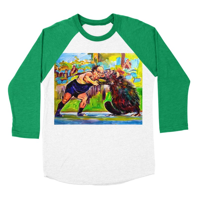 greco-roman Women's Baseball Triblend Longsleeve T-Shirt by paintings by Seamus Wray