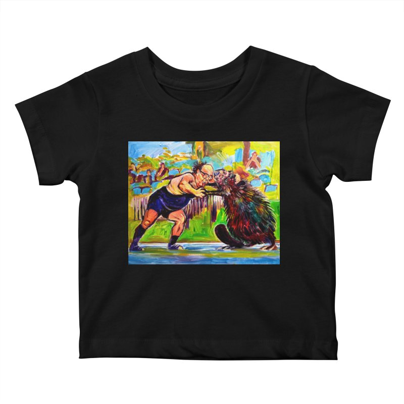 greco-roman Kids Baby T-Shirt by paintings by Seamus Wray