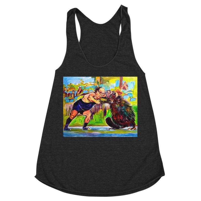 greco-roman Women's Racerback Triblend Tank by paintings by Seamus Wray