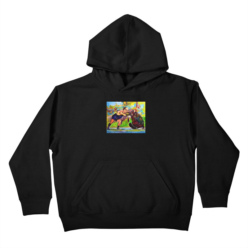 greco-roman Kids Pullover Hoody by paintings by Seamus Wray