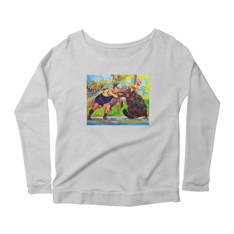 greco-roman Women's Scoop Neck Longsleeve T-Shirt by paintings by Seamus Wray